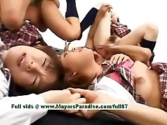 Teenage japanese models have joy with an orgy