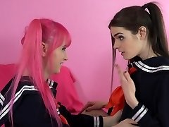 Shemale Schoolgirl Learns to Poke!