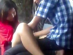 Myanmar Paar Liebe Machen im Park