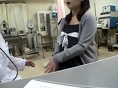 Busty doctor nails her Jap patient in a medical fetish video