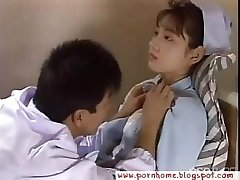 Asian Nurse torn up by doctor