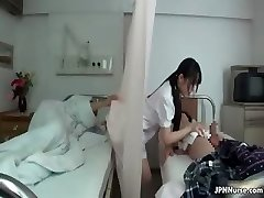 Japanese nurse loves sucking two partTrio