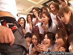 Beautiful Chinese students exploring