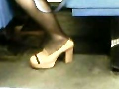 High High-heeled Shoes Stockings Japanese Milf