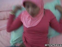 Asian super-cute teen fucked in her denim