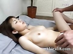 Japanese guy licking super unshaved pussy