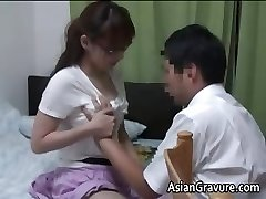 Beautiful asian with big breasts home professor part1
