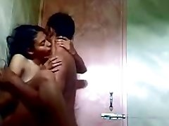 indian teenie in bathroom with her bf