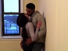 Korean student making out with her very first ebony guy.