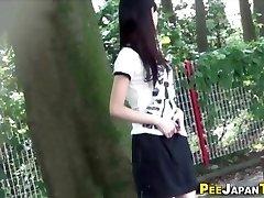 Japanese teen pee public