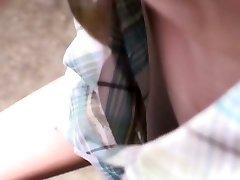 Cute asian doll gets filmed by voyeurs