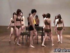 Super hot Japanese girls demonstrating
