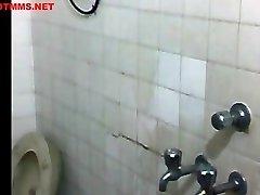 beautiful indian girl having bathroom