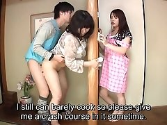 Subtitled Chinese risky fuck-fest with voluptuous mother in law