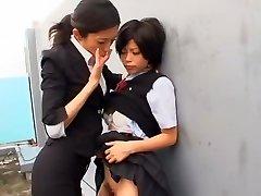 Hottest Japanese bi-atch Kurumi Katase in Exotic College, Fingering JAV movie