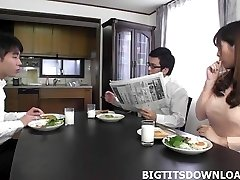 Wondrous  japanese with big tits playing