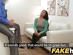 Fake Agent Big boobs Japanese wants hard screw on the casting couch