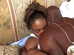 Teen ebony craves a big cock