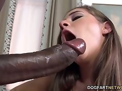 Cassidy Klein Pleases A Big Ebony Hard-on With Her Feet