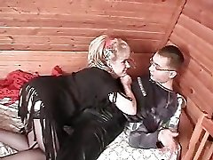Mature lady and young dude