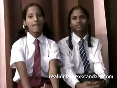 Real Indian School Girls In Uniform Strip Bare