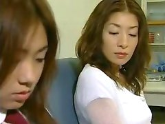 Two Asian Lesbians Seduce a Straight Girl