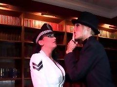 Radny biotch shoves a stick in policewoman's ass-hole