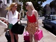 Smoking Hot Lesbian Couple Ruins Young Girl's Vacation