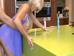 Busty Mature Fucks and Sucks in Kitchen By TROC
