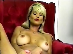 Molten Busty Blonde Striptease and Fingering 2016