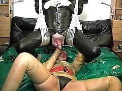 vintage rubber spandex couple ass fisting pop-shot