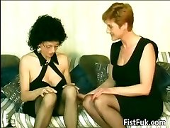 Horny old sluts frigging and going knuckle deep part6