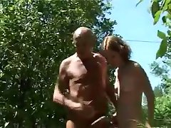 French Teen With An Older Man