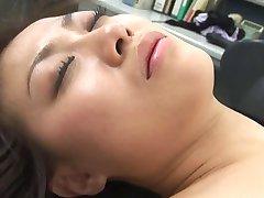 Sexy ιαπωνικά Δις Aizawa μασάζ,έπαιζε,και τρίο