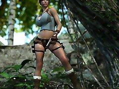 3D Lara Croft Jizzed by an Ogre!