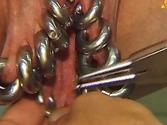 I am pierced with heavy down low Mature BDSM slave creamed