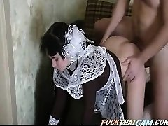 Guiltless maid gets her mouth fucked