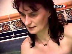 Some ugly gals in this swinger's orgy blowing and getting nailed
