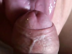 close up blowjob with huge cream swallowed