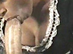 Heather Lee maid sucking cock