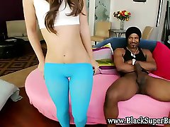 Big black cock hottie rides cock