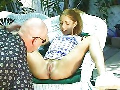 Skinhead fucks young blonde girl