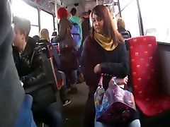 flashing dick in bus