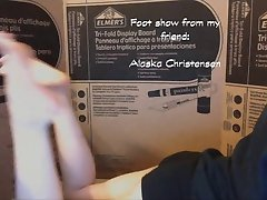 Alaska sucks her sexy teen toes pt. 3
