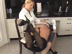 Maid Spanked Until She Can't Sit!