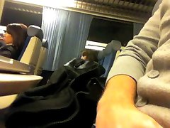 Teen caught me flashing train