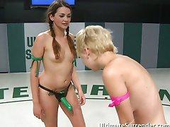 Ultimate lesbian wrestling