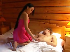 Weird threesome in an old cottage