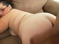 Nerdy Fat Big Tit Milf Gets BBC