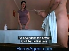 HornyAgent Fucking the Masseur Cougar